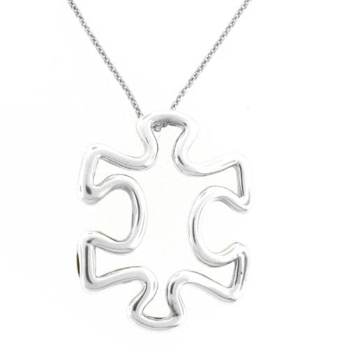 Puzzle Piece Pendant 1 Inch 925 Sterling Silver *** For more information, visit image link.