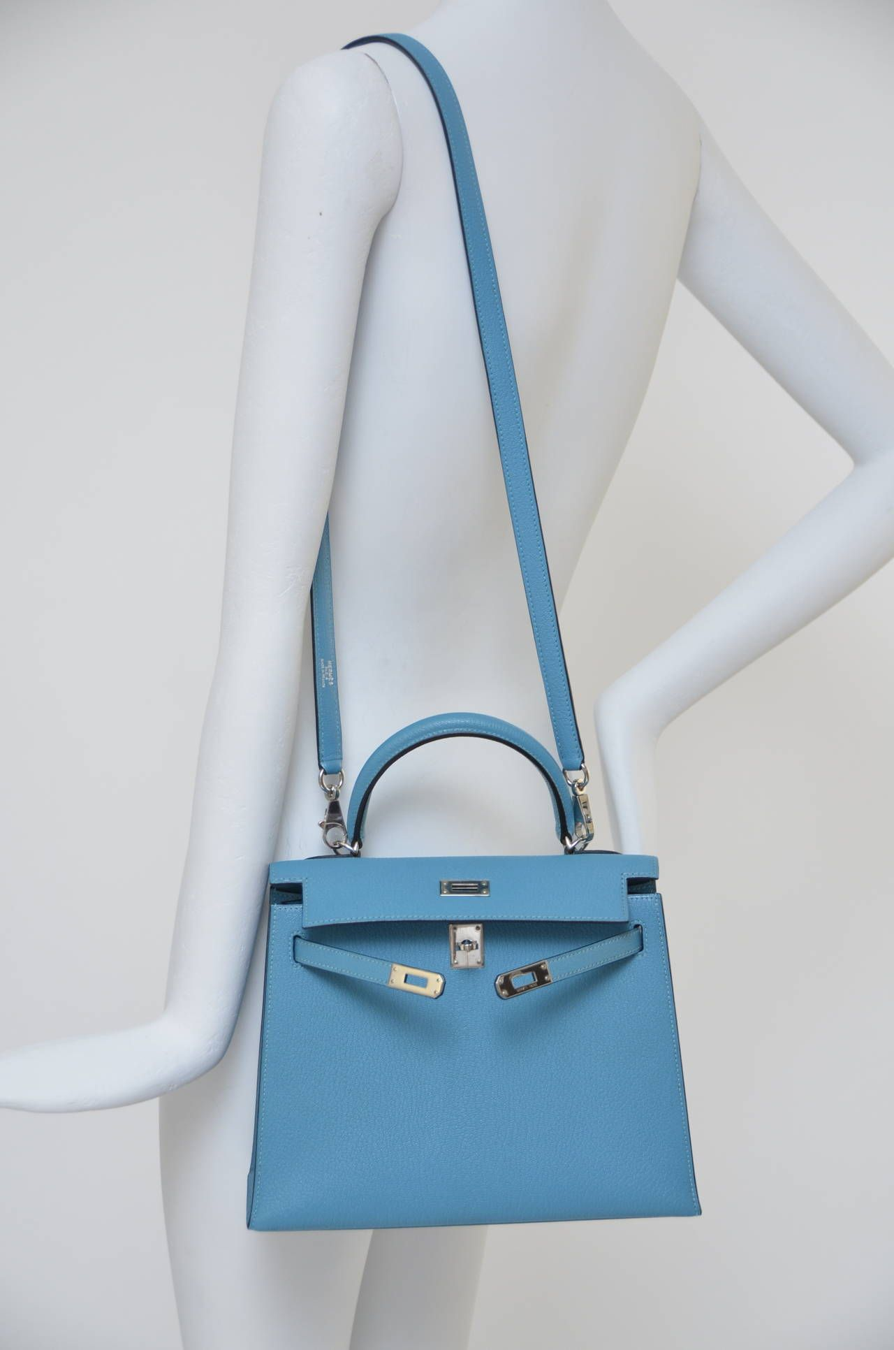 Rare Hermes Mini Kelly 25 Cm Palladium Hardware NEW   All about my ... 9ff55eb9c9