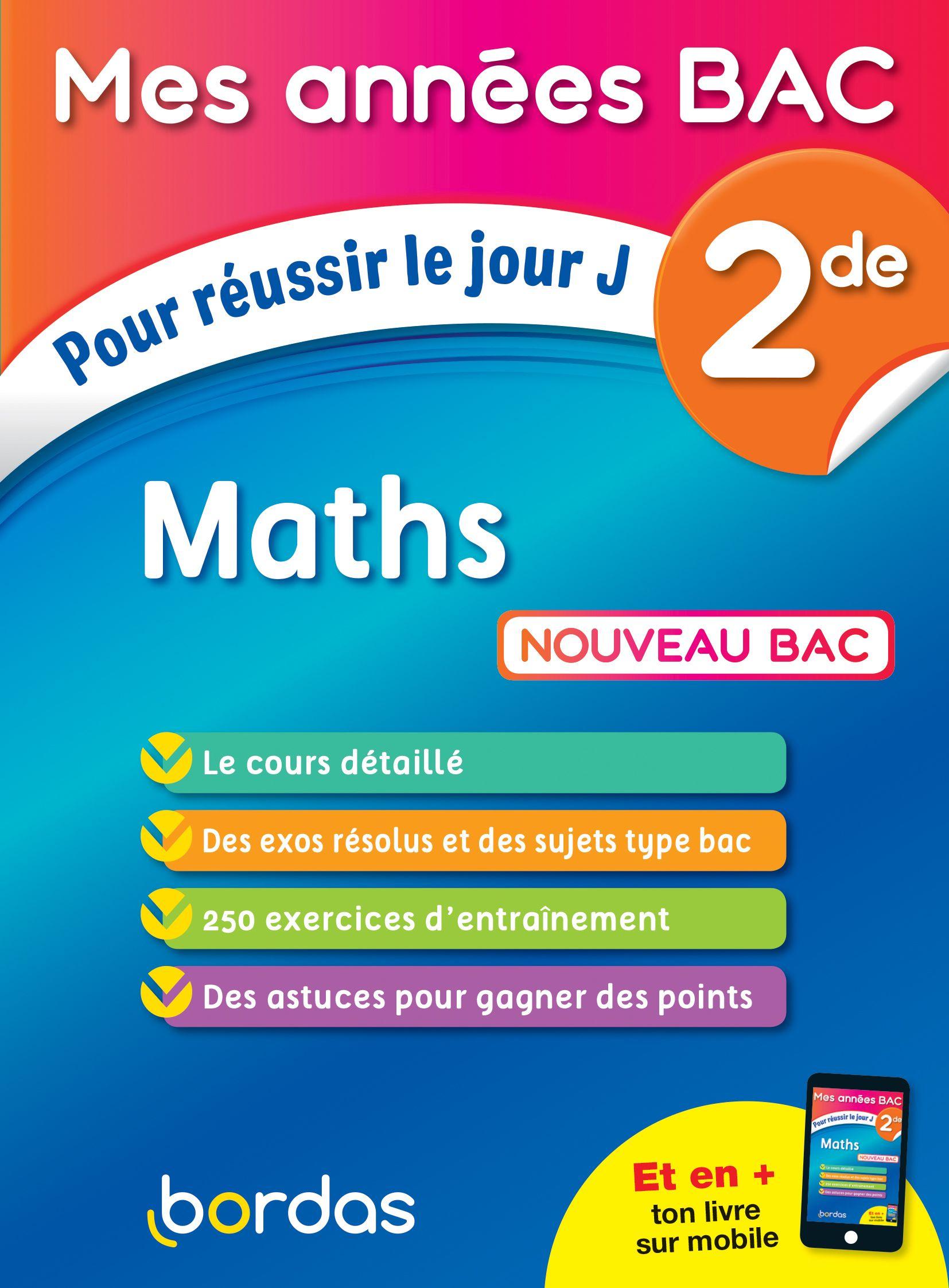 Cours Et Exercices Maths 2de Mes Annees Bac Bac Maths Philosophie Terminale Sujet Bac