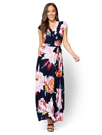 64ae3ac6da32f Shop Wrap Maxi Dress - Floral. Find your perfect size online at the best  price at New York   Company.