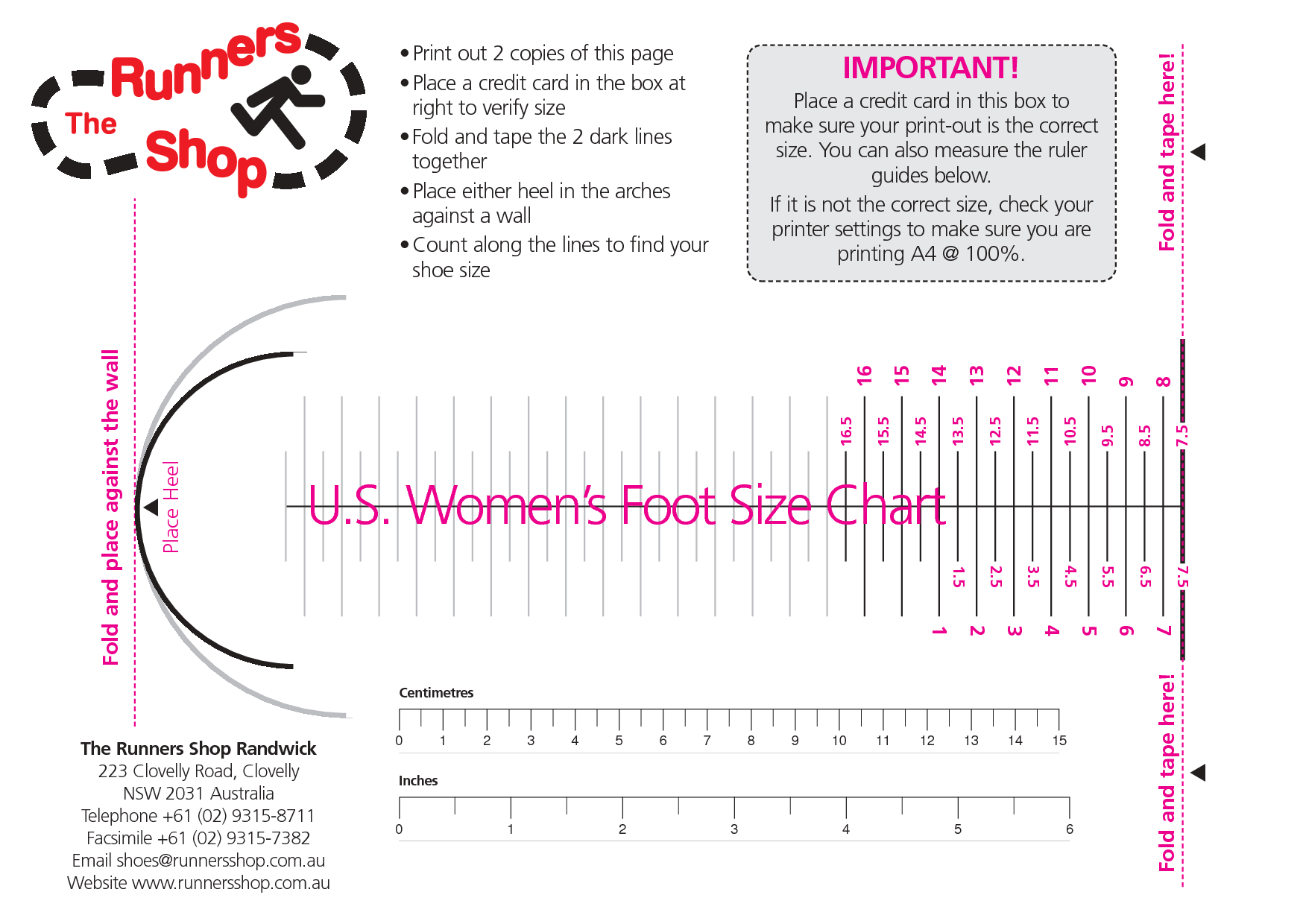 Womens shoe size chart women s foot size chart charts and info