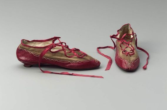Mfa Boston Shoes Red Shoes 1805 10 Museum Of Fine Arts
