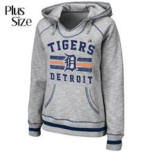Detroit Tigers Women's PLUS All Time Slugger Hooded Fleece by Majestic Athletic