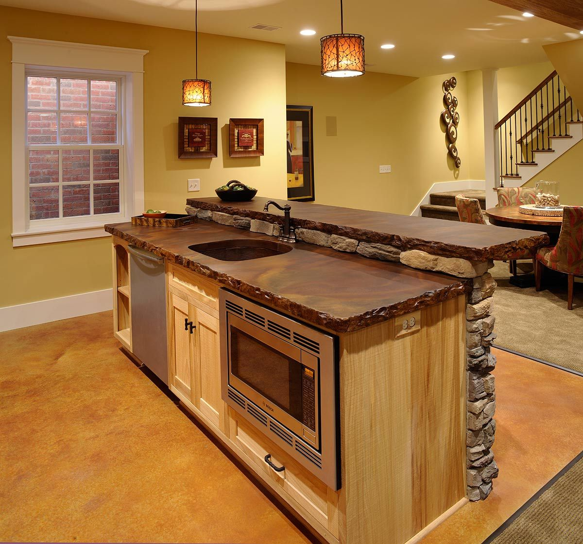Good Island Countertop Ideas Part - 14: Like The Bar/countertop. What Material Is That Countertop? Basement  +renovation +basement Design, Pictures, Remodel, Decor And Ideas - Page 5