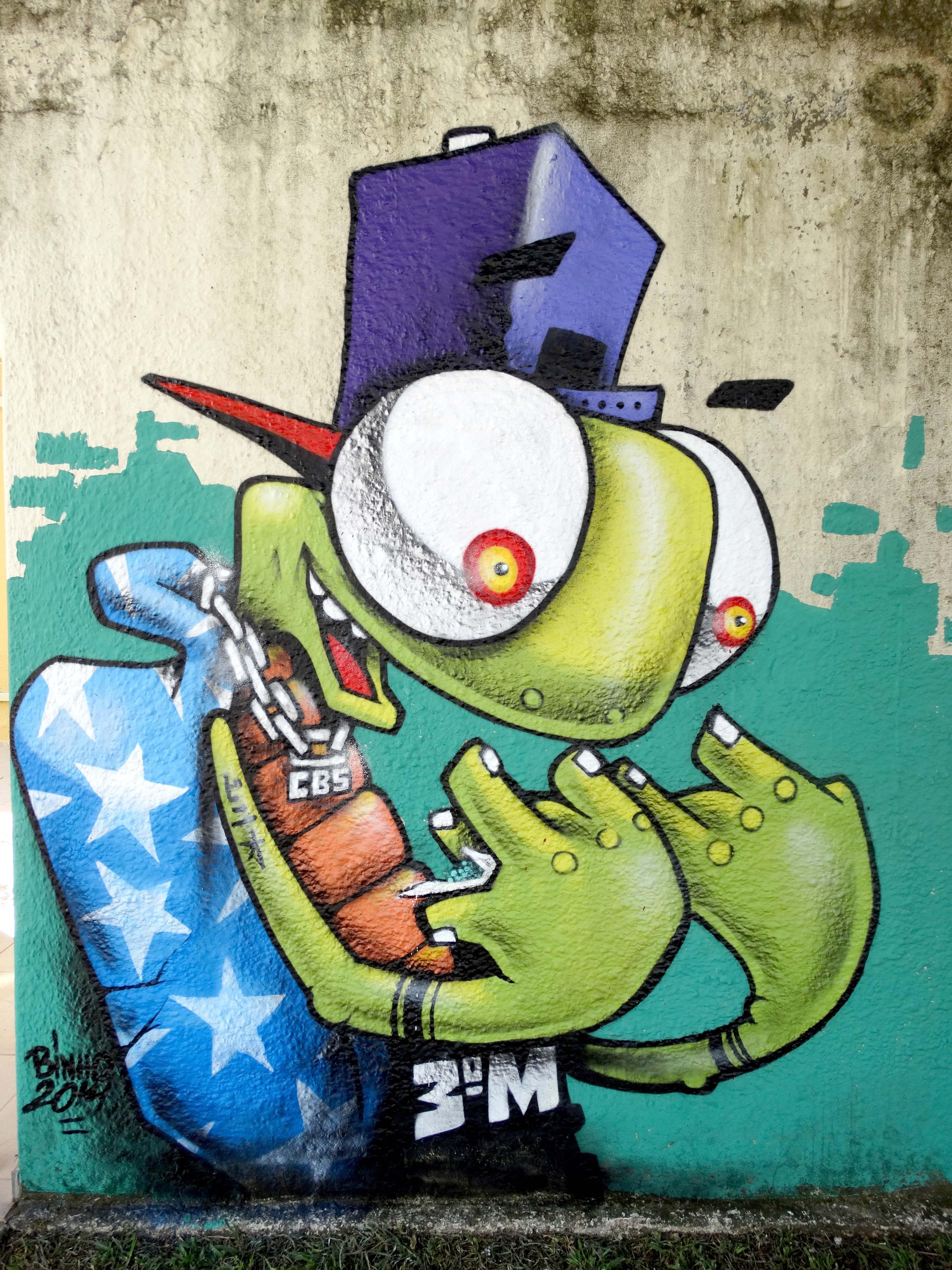 Binho Ribeiro Personagem Grafite De Rua Arte De Rua E