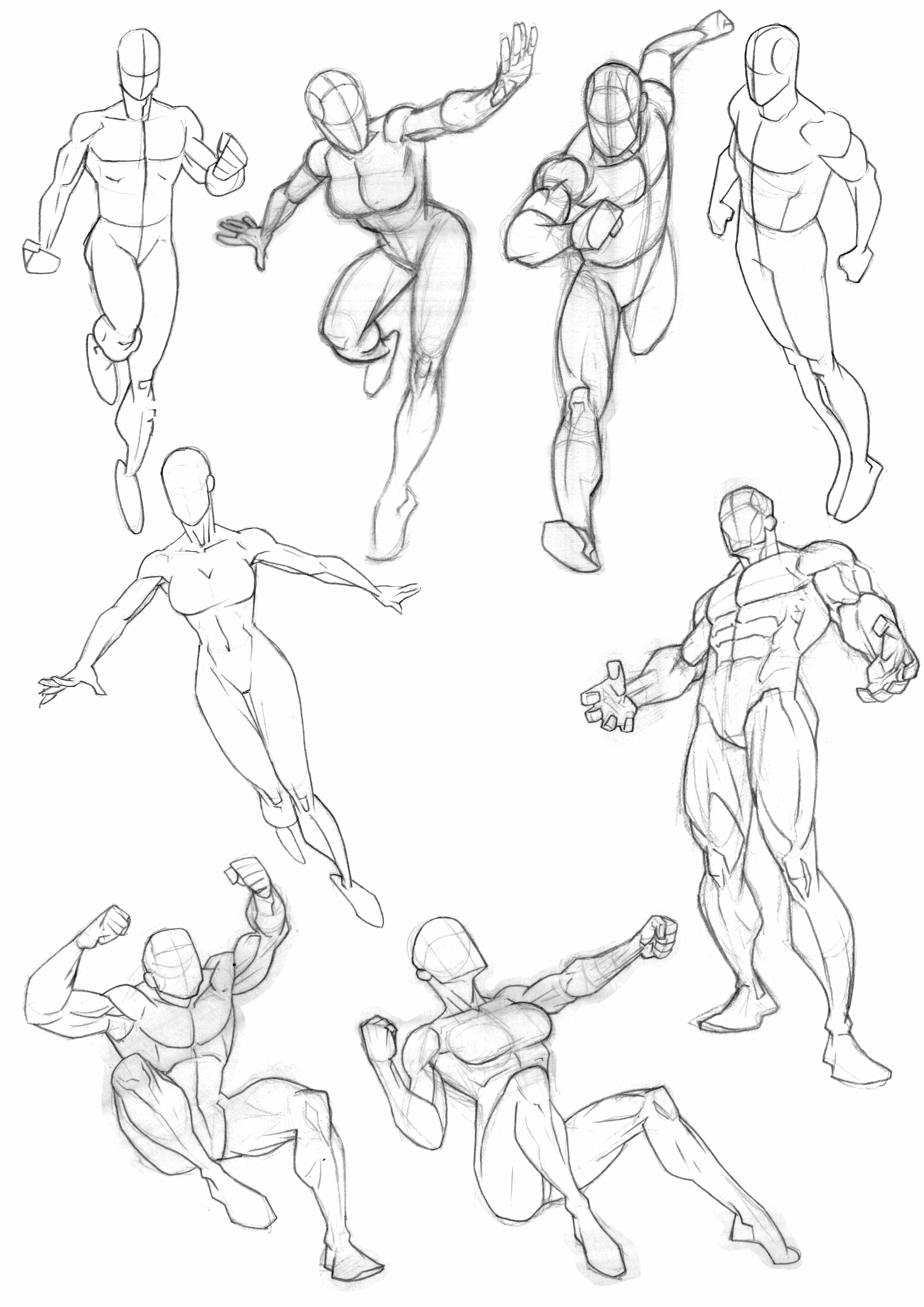 Latest compilation of anatomy and pose sketches from my