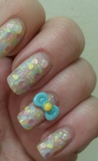 My pastel painted easter nails ready for spring