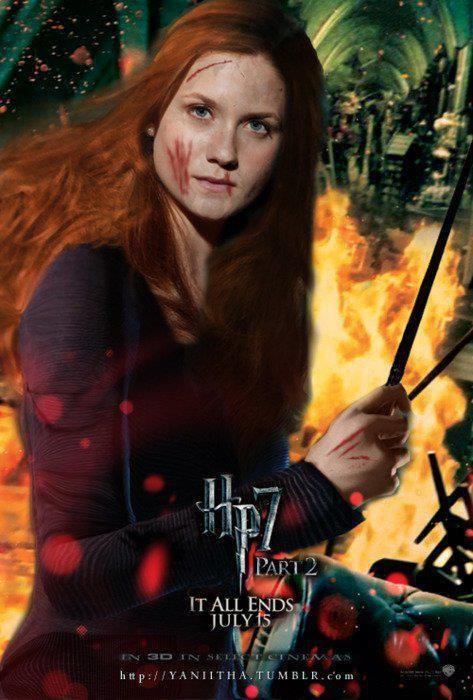 Posters De Las Reliquias De La Muerte Parte 2 Ginny Weasley Películas De Harry Potter Ginny Weasley Fotos De Harry Potter