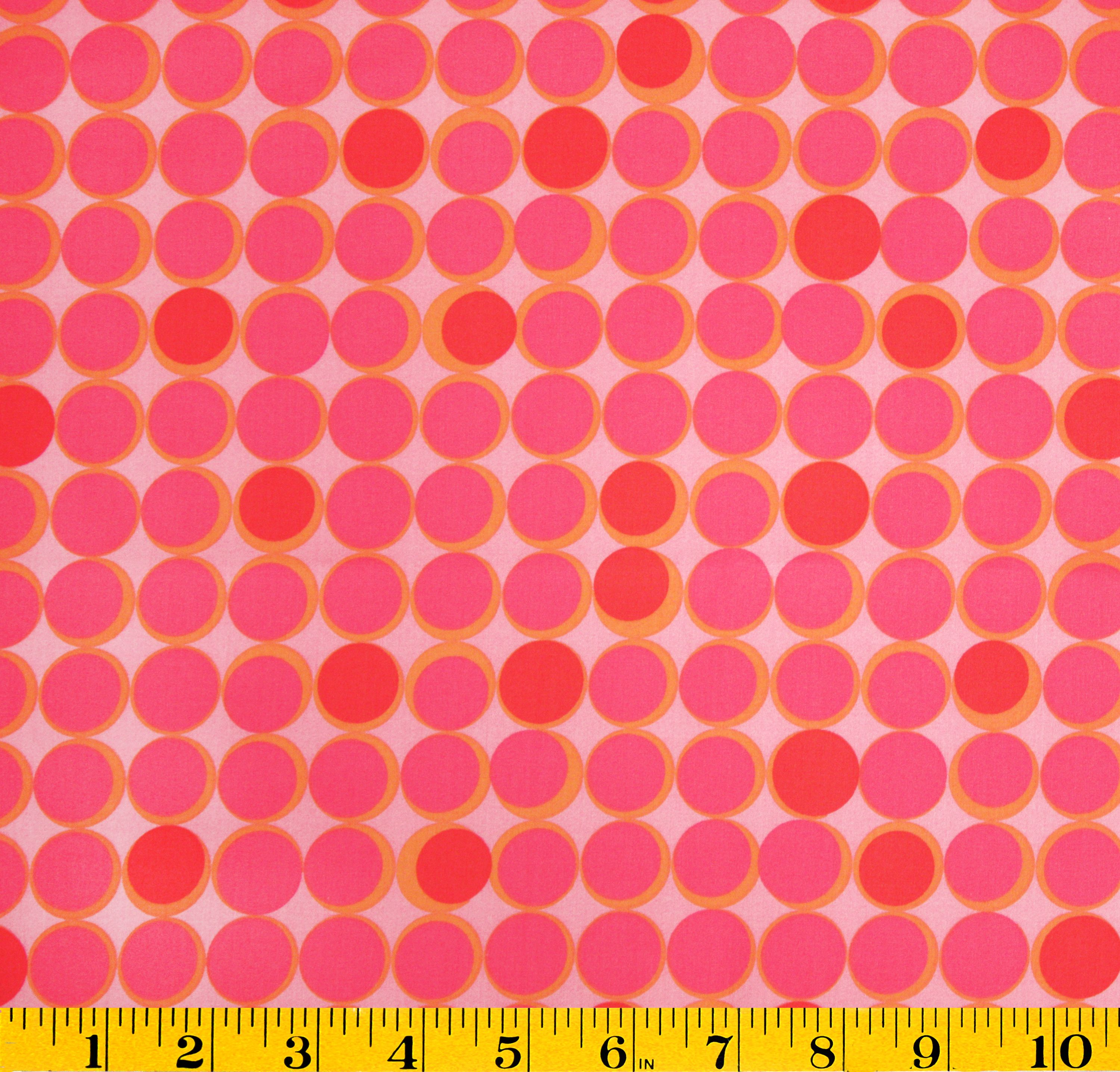 Lisette Collection- Saturn Dot Pink SateenLisette Collection- Saturn Dot Pink Sateen,