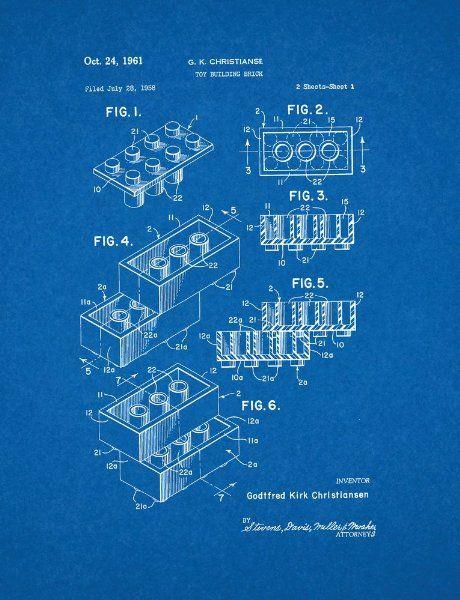 Building Blocks Patent Print Amazon Uk