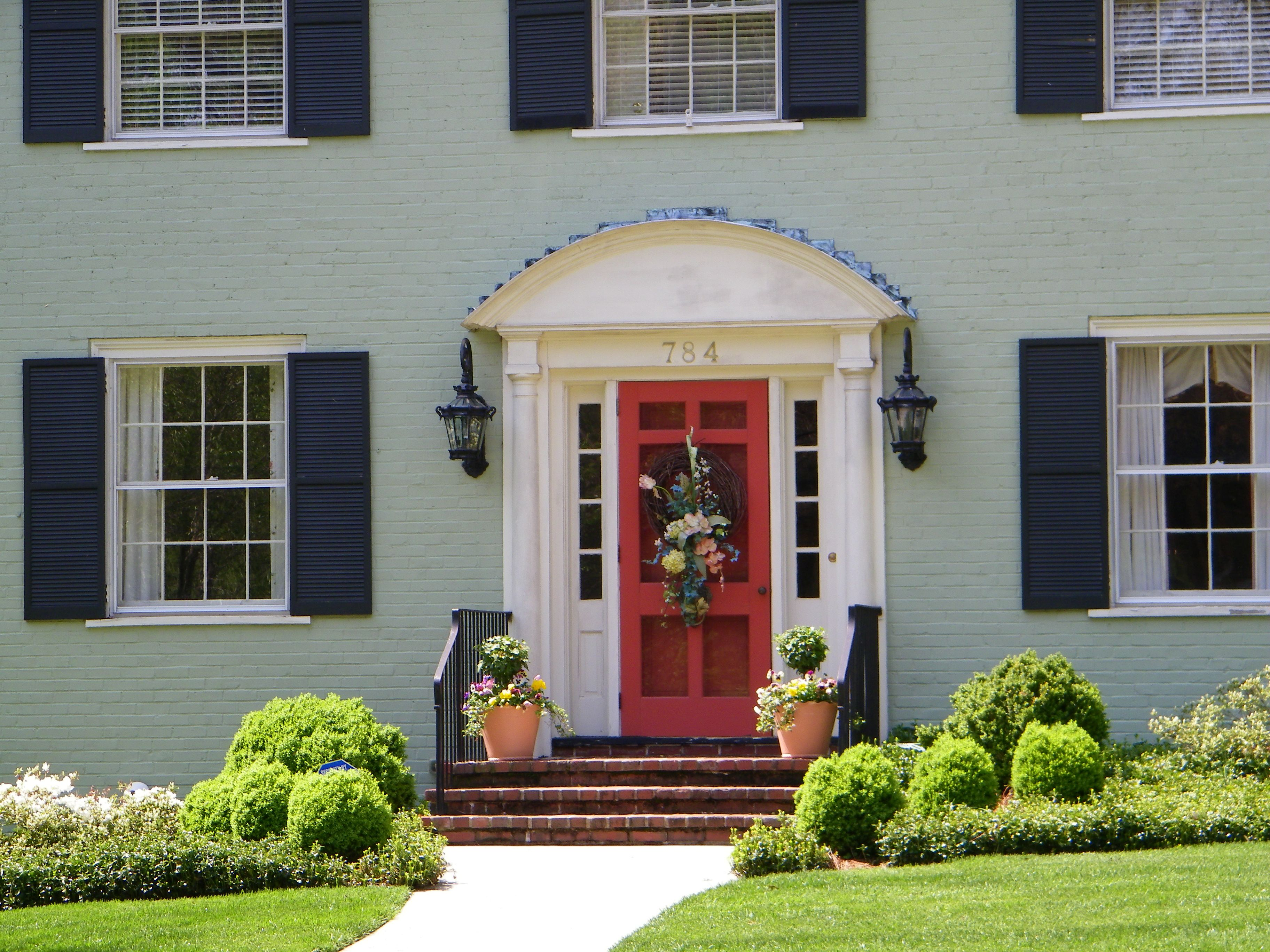 Front door colors for light gray house - Color Options For Brick Houses Making Lemonade From The Current Lemon