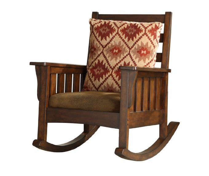 oak rocking chair plans rail tile wooden mission style rocker arms cushions back seat solid new