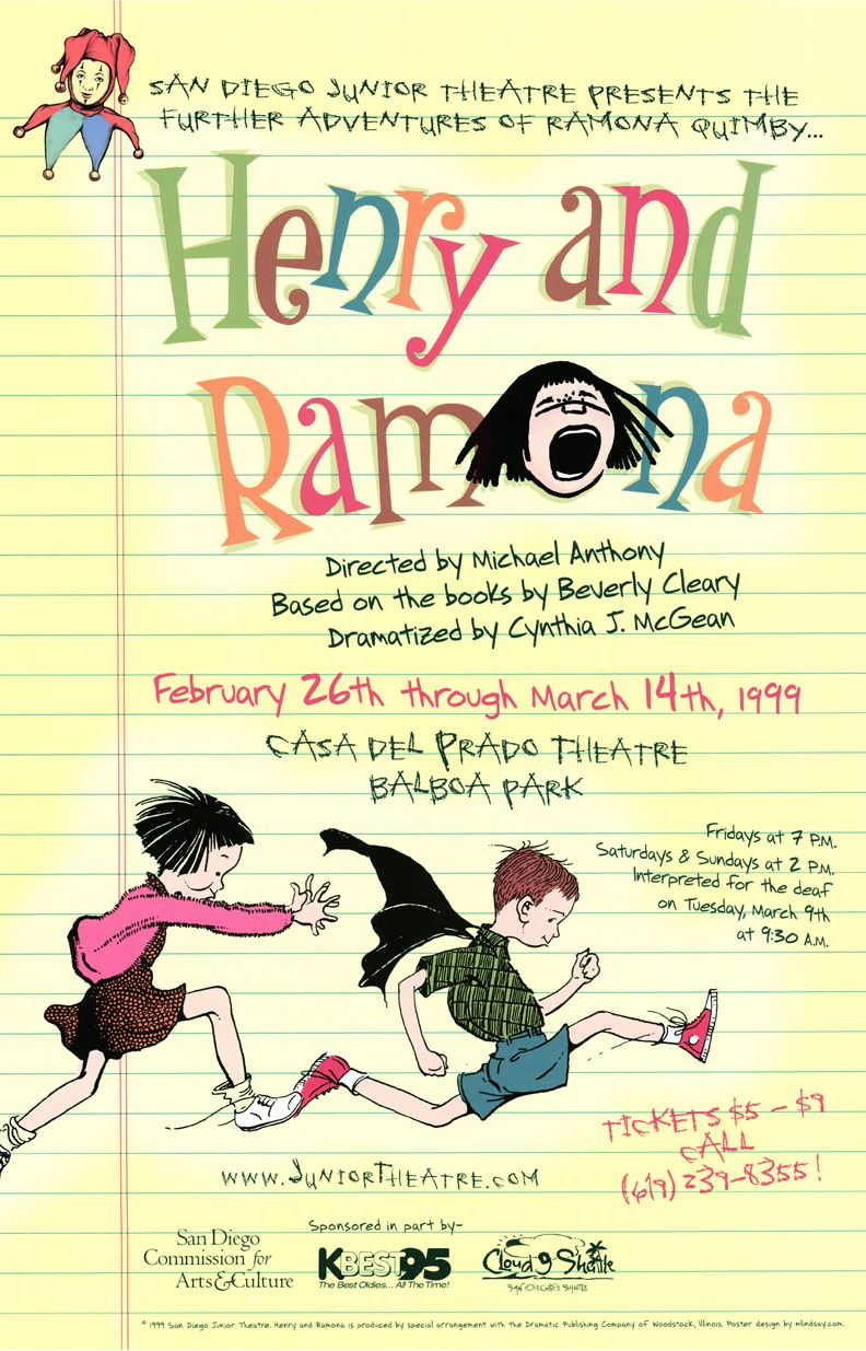 Advertising poster for San Diego Junior Theatre's 1999 ...
