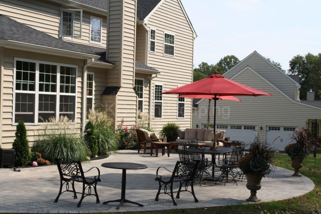 Ground level paver patio by ckc landscaping patio paver