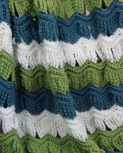 Victorian Ripple Afghan Pillow Set Crochet Pattern Ripple Afghan