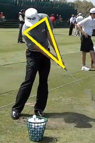 Maintain triangle between hands, arms and shoulders through impact.