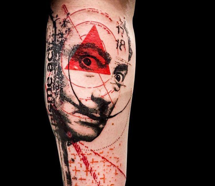 23b080a0f Salvador Dali tattoo by Paul Talbot | Tattoos | Dali tattoo, Trash ...