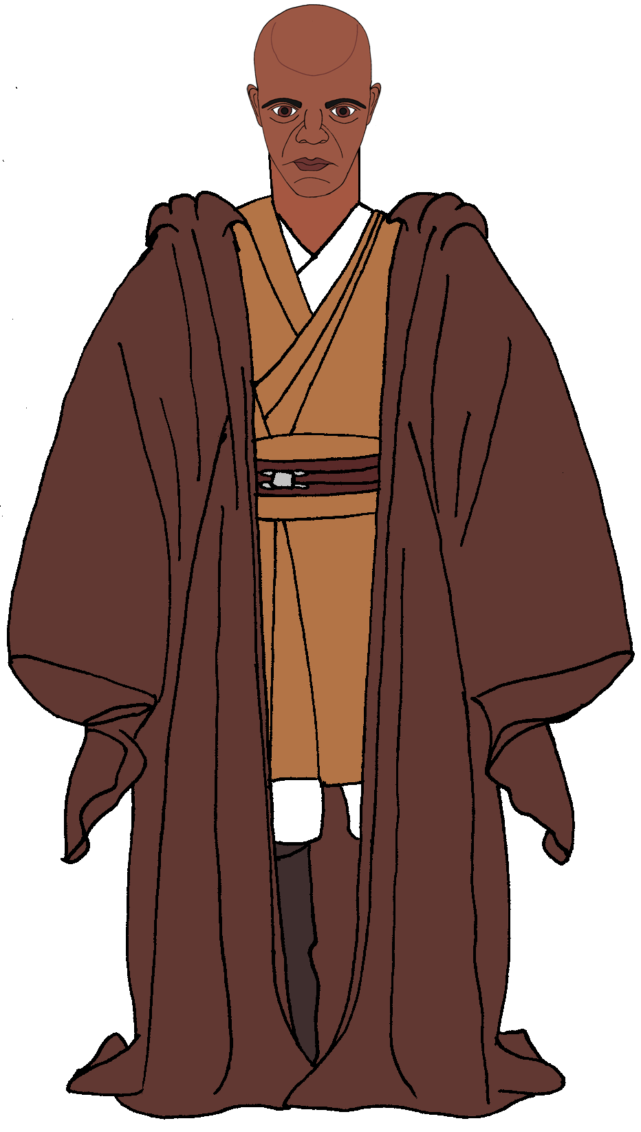 Mace Windu Cloaked Mace Windu Nun Dress Cloak
