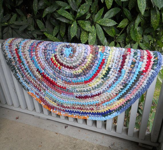 Youtube Toothbrush Rag Rug: Colorful Rag Rug Round