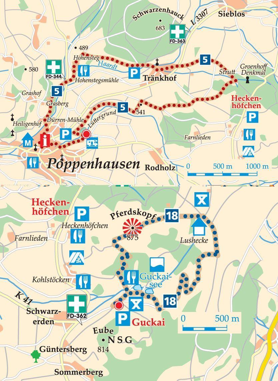 Rhon Rundweg 5 Poppenhausen Karte Wasserkuppe See Urlaub