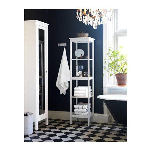 HEMNES Hoge kast met spiegeldeur - wit - IKEA