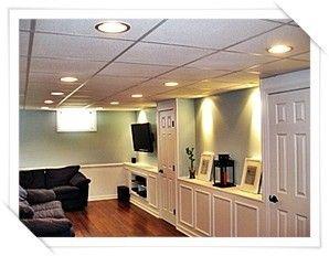 finished basement ceiling ideas Google Search Basement