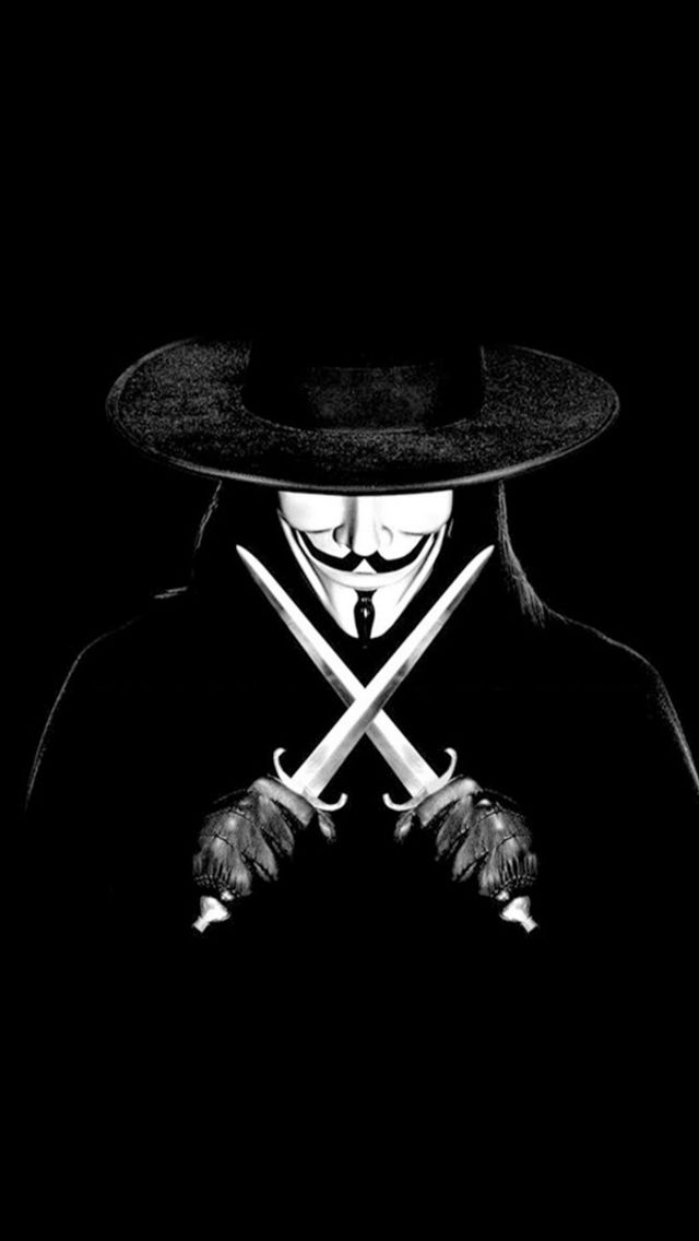 V For Vendetta Man With Knifes iPhone Wallpapers V for