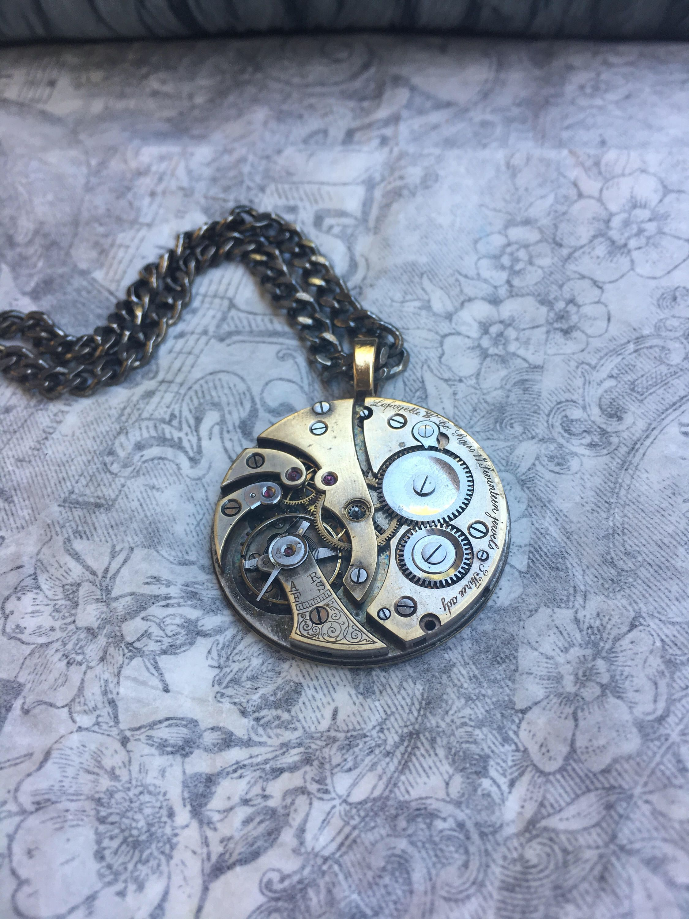 men's gold steampunk necklace, steampunk cosplay, boho jewelry