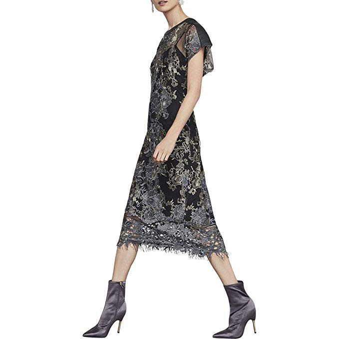 Amazon.com: BCBG Max Azria Womens Metallic Embroidered