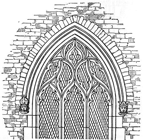Gothic Windows Line Drawing Torus A Pronounced Convex