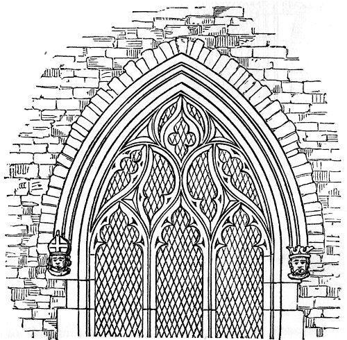 gothic windows line drawing torus a pronounced convex