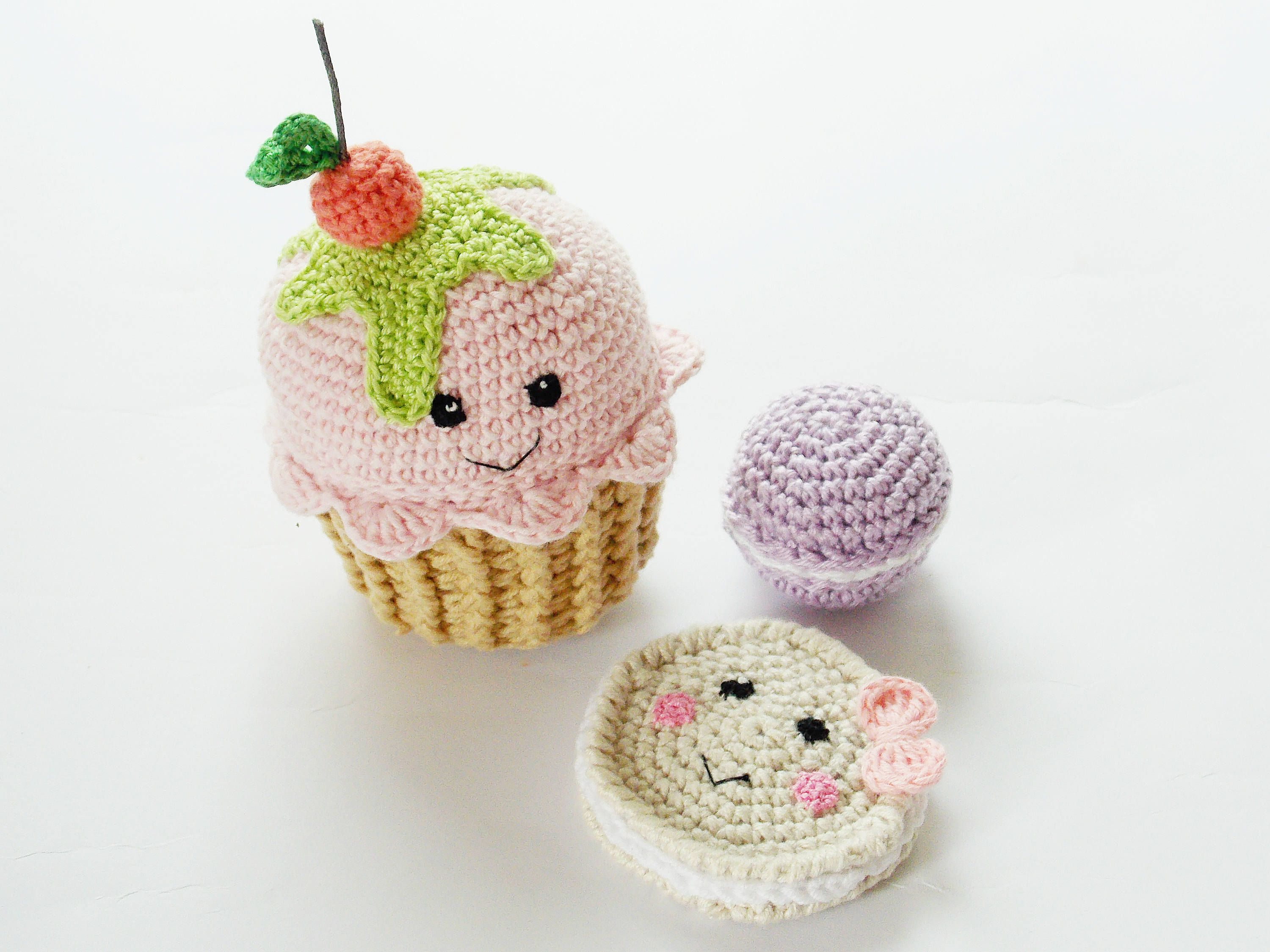 Crocheted Rattle eco friendly toy nursery decor baby shower