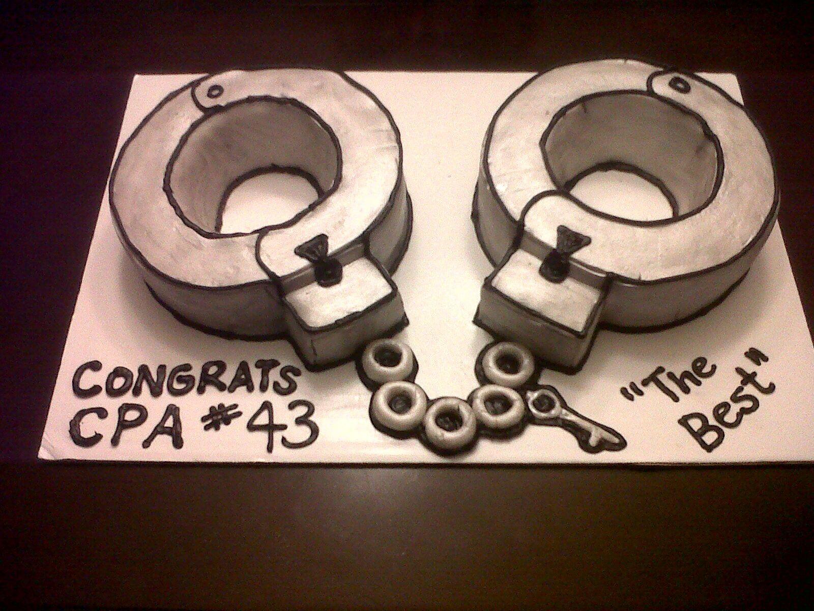 Handcuffs cake