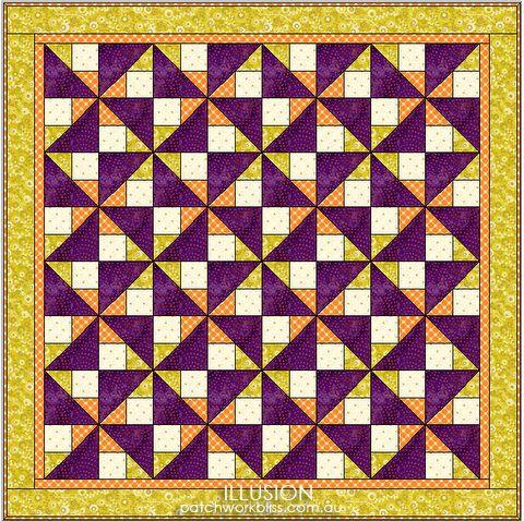 Illusion Free Pattern http://patchworkbliss.com.au/shop/