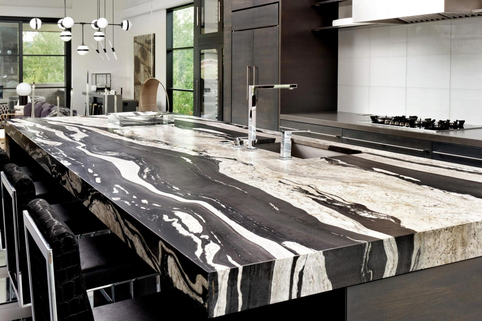 Image Result For Clear River Onyx Slab Contemporary Grey Kitchen