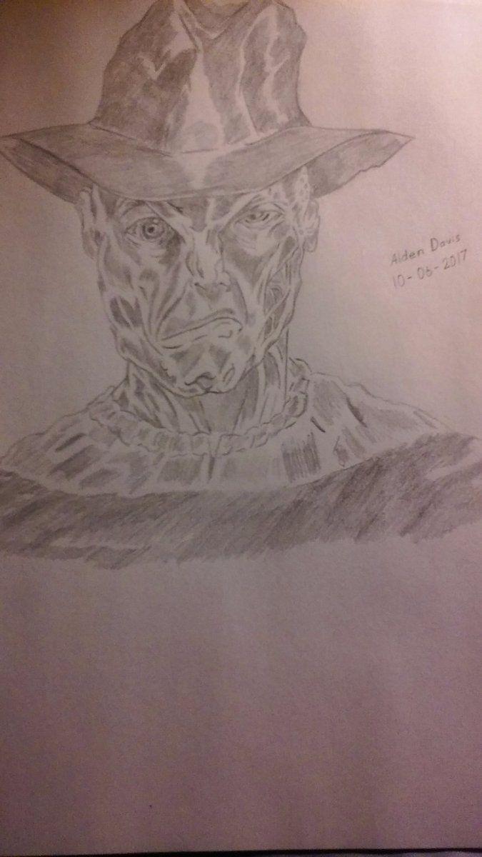 My pencil sketch artwork of Freddy Krueger (A Nightmare on Elm ...