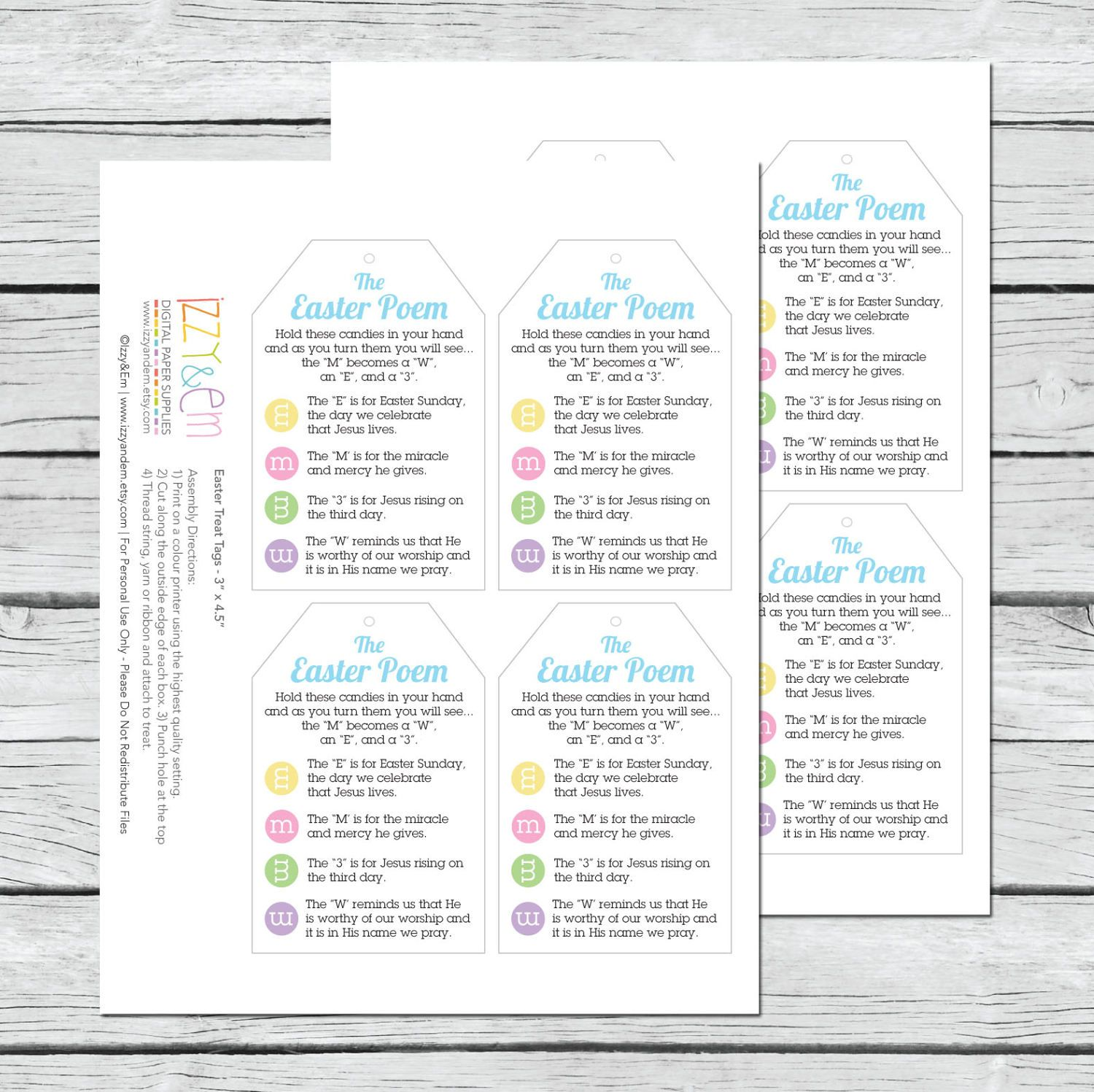 Easter poem easter gift tag printable gift tag kids easter easter poem easter gift tag printable gift tag kids negle Images