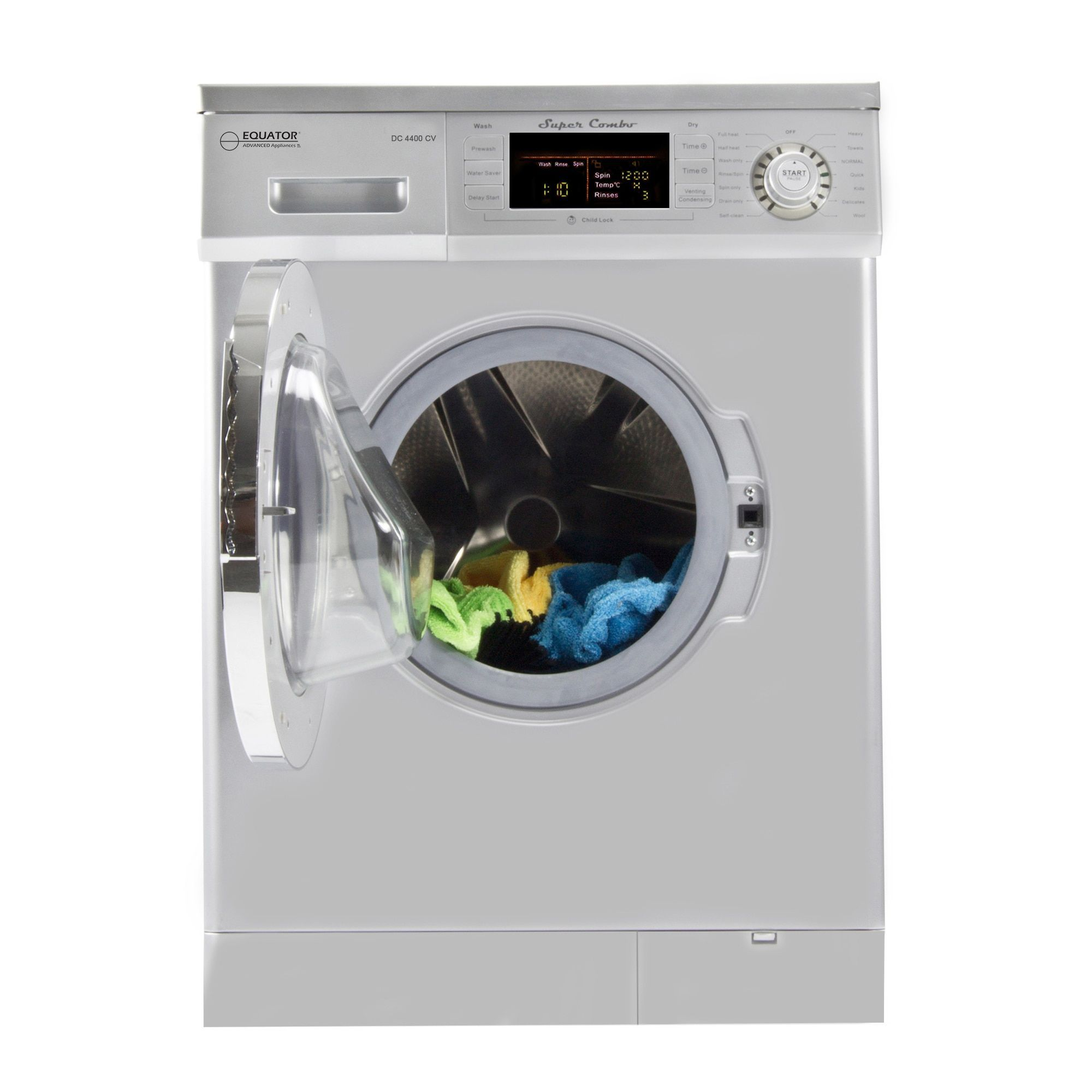 Equator 1 6 Cu Ft White Compact Combo Washer Dryer With Optional