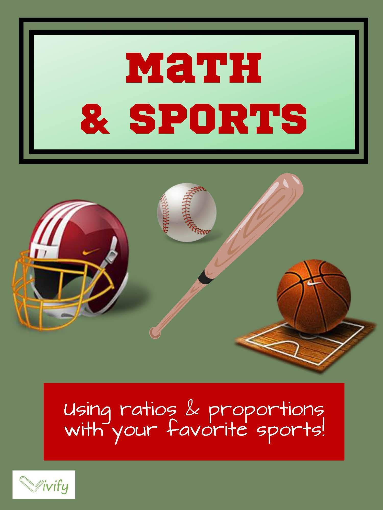 Math and Sports Activity Bundle Ratios and Proportions
