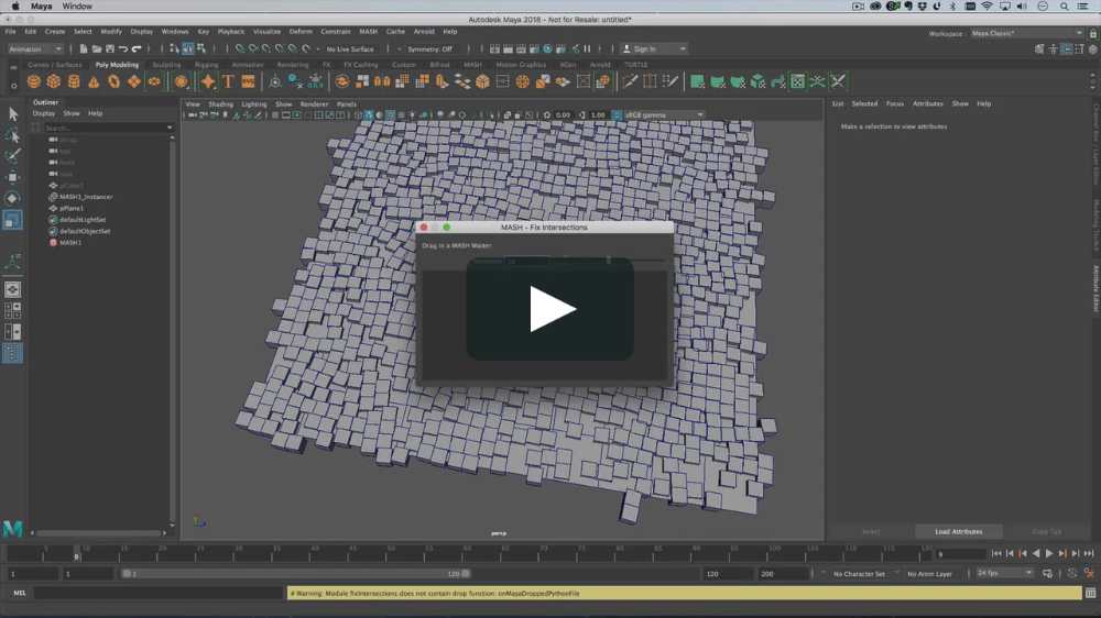 Maya 2018 Brings With It The Ability To Create Mash Smart Presets These Are Python Scripts Allowing You To Create And Share Your Own Mash S Presets Mash Ups