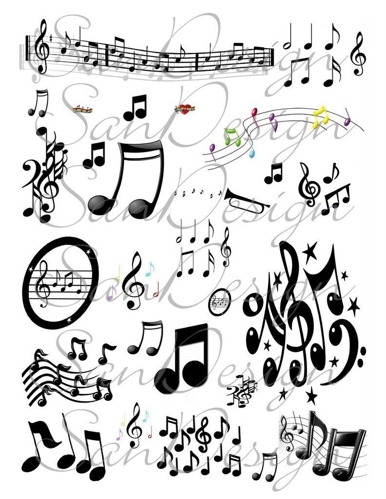 picture regarding Free Printable Tattoo Flash Sheets referred to as Absolutely free+Tattoo+Flash+Sheets Audio Notes Electronic Collage Sheet