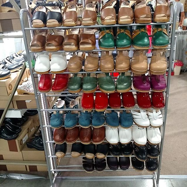 These beautiful Clogs at the Wisconsin State Fair, booth 1109, Expo Center #superiorclogs #swedishclogs #troentorp superiorclogs.com