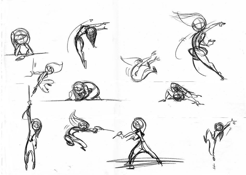 Scribble Line Gesture Drawing : Simple gesture drawing poses imgkid the image
