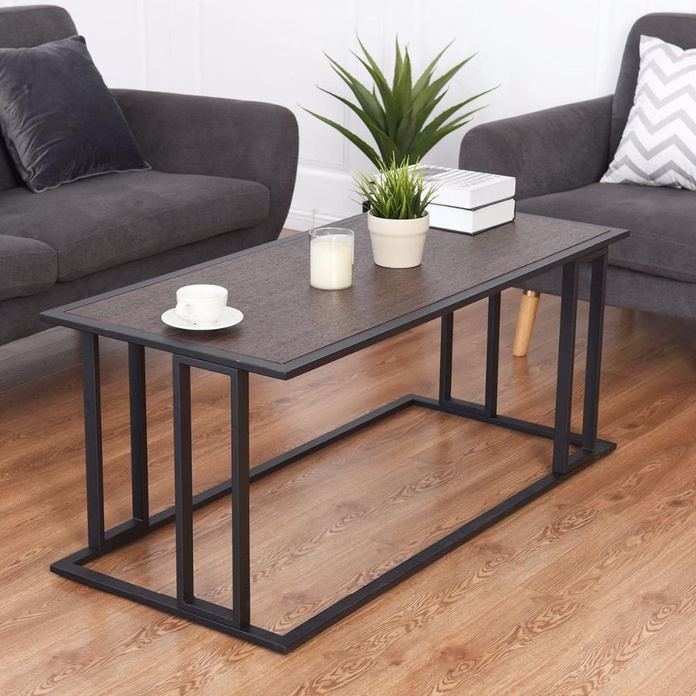 Dereq Modern Coffee Table Living Room Table Coffee Table Living Room Essentials [ 1000 x 1000 Pixel ]