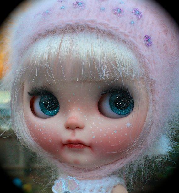 SCoLaDolls Custom Blythe doll OOAK Snow Globe by SCoLaDolls
