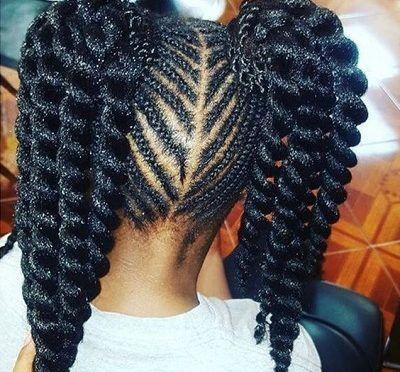Image Result For Two Ponytails Braids Black Girl Natural