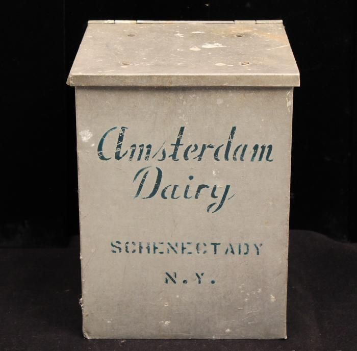 Vintage 1940s 50s Amsterdam Dairy Aluminum Advertising Milk Box Milk Box Milk Dairy