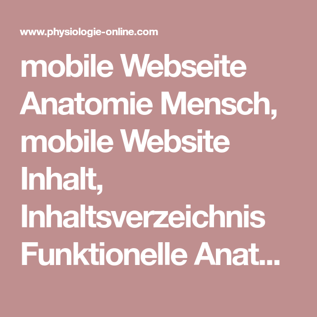 mobile Webseite Anatomie Mensch, mobile Website Inhalt ...