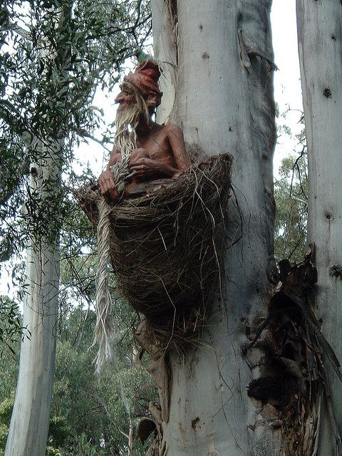 Gnome in a nest (Bruno's Sculpture Garden)