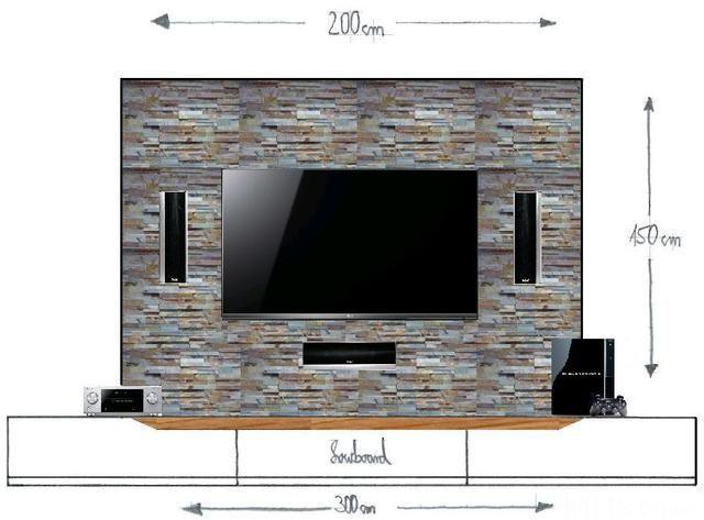 bildergebnis fr laminat steinoptik tv wand - Tv Wand